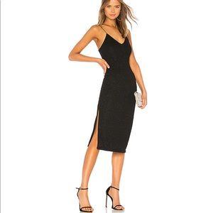 alice and olivia Stila Midi Dress in Black